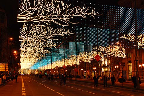 Alumbrado Navideño Led Madrid