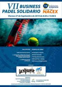VII Business Padel Solidario Cartel